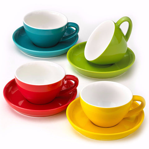 Cappuccino Cups and Saucers - Easy Living Goods