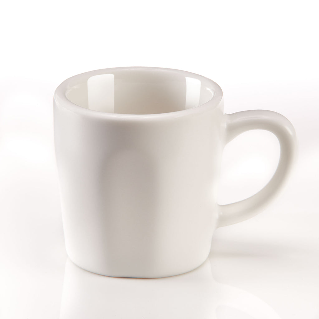 Espresso Cups - Matte White Porcelain - Set of 2 - Easy Living Goods