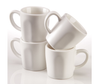 Espresso Cups - Matte White Porcelain - Set of 4 - Easy Living Goods