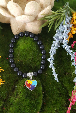 Autism Heart Puzzle Bracelet     (3 colors to choose)