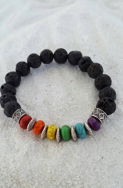 Lava and Rainbow Beads
