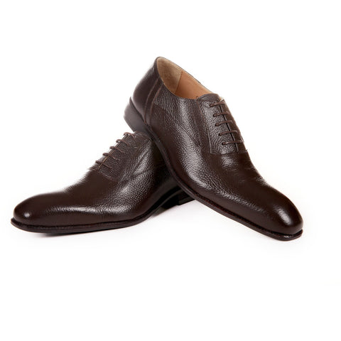 Genuine Leather Brown Oxford Shoes by ENAAF