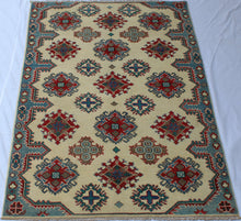 Afghan Kazak hand-knotted wool area rug