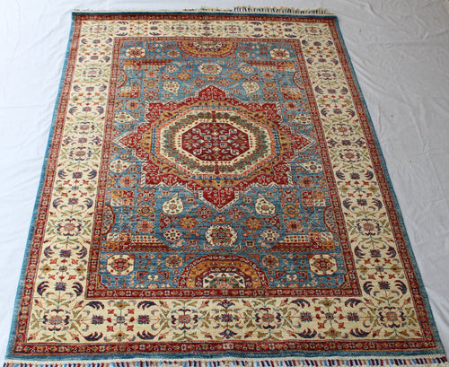 Afghan Mamlook hand-knotted wool rug