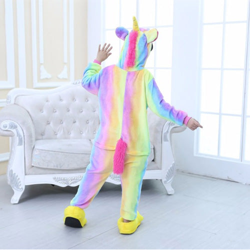 Colorful Unicorn Onesie Pajama for Kids - Animal Hug 5839a4f7af19