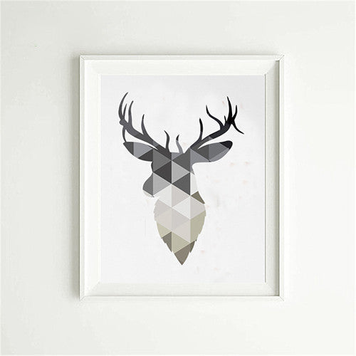Deer Elk Head Canvas Animal Hug
