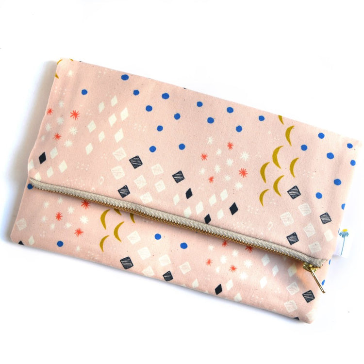 Moonlight Blush Foldover Clutch
