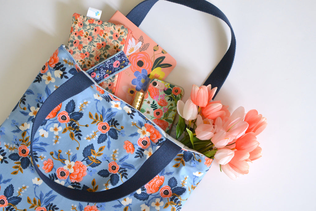 Tote Bag in Birch Floral