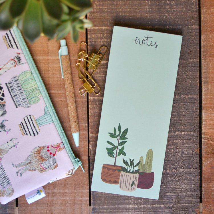 Potted Plants Notepad