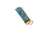 Tapestry Key Fob in Teal - gold