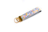 Rosa Floral Key Fob in Lilac - gold
