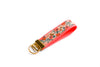Rosa Floral Key Fob in Coral - gold