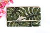 Monstera Foldover Clutch
