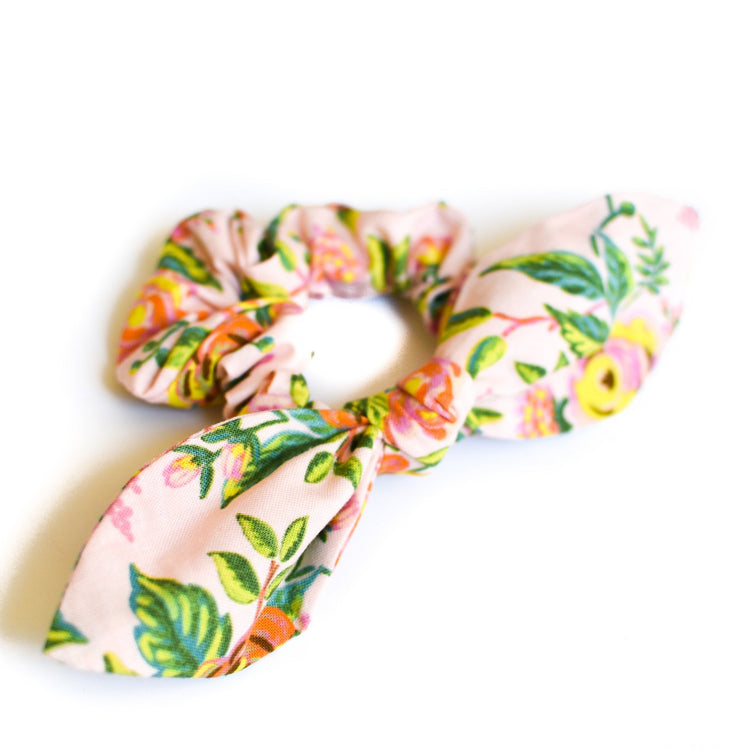 Pink Paris Bow Scrunchie