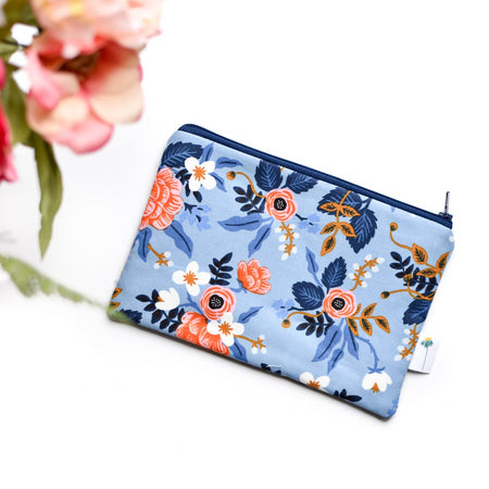 Birch Floral Zipper Pouch
