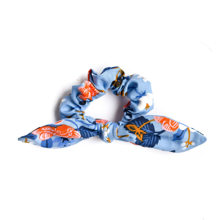 Birch Floral Bow Scrunchie