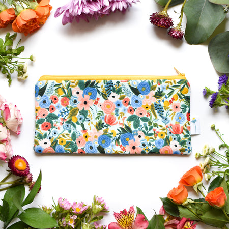 Mint Garden Pencil Pouch