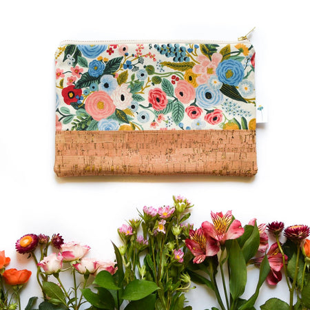 Signature Cork Clutch in Garden Party Blue