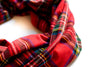 Red Tartan Plaid Cowl
