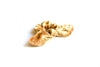 Gold Velvet Bow Scrunchie