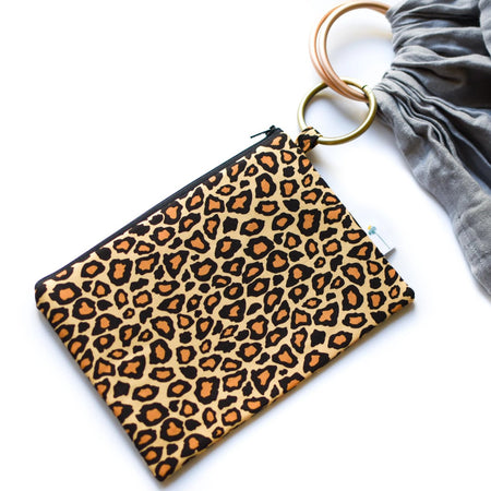 Leopard Clip Ring Pouch