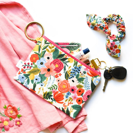 Garden Party Clip Ring Pouch