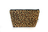 Large Zipper Pouch in Leopard