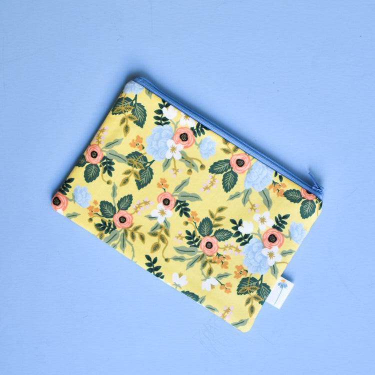 Yellow Birch Floral Zipper Pouch