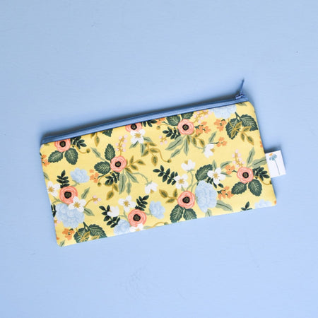 Yellow Birch Floral Pencil Pouch