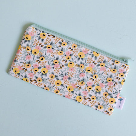 Mint Rosa Pencil Pouch