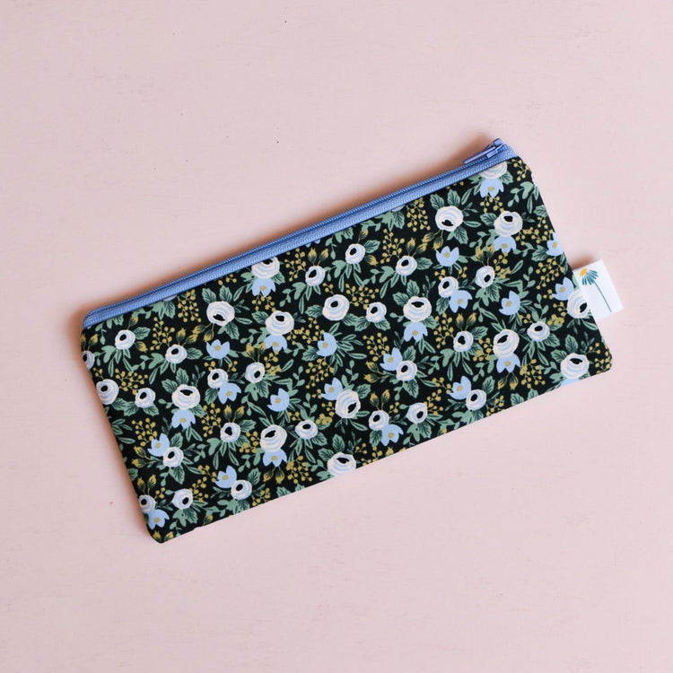 Black Rosa Pencil Pouch