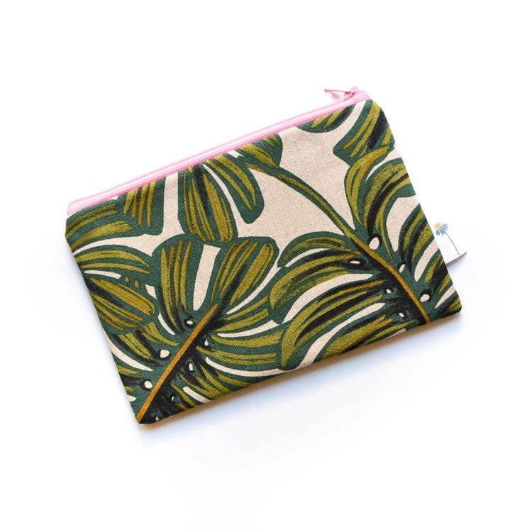 Monstera Zipper Pouch