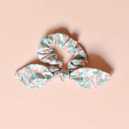 Strawberry Bow Scrunchie
