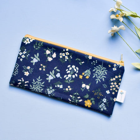Navy Hawthorne Pencil Pouch