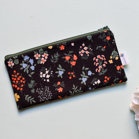 Black Hawthorne Pencil Pouch