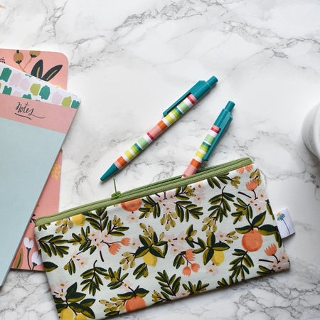 Mint Citrus Pencil Pouch