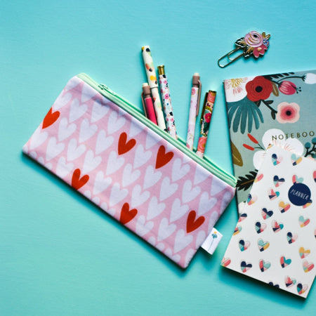 Hearts Pencil Pouch