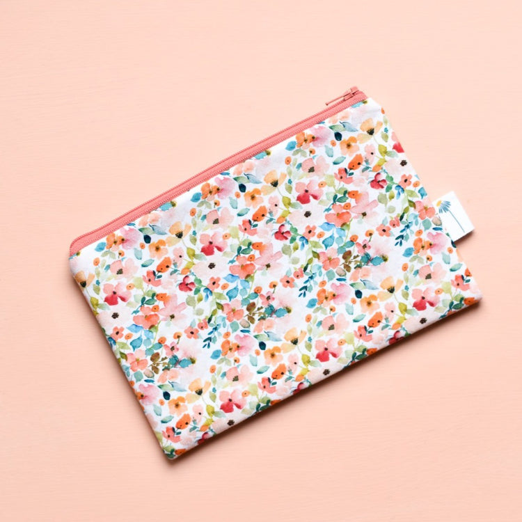 Sunset Floral Zipper Pouch