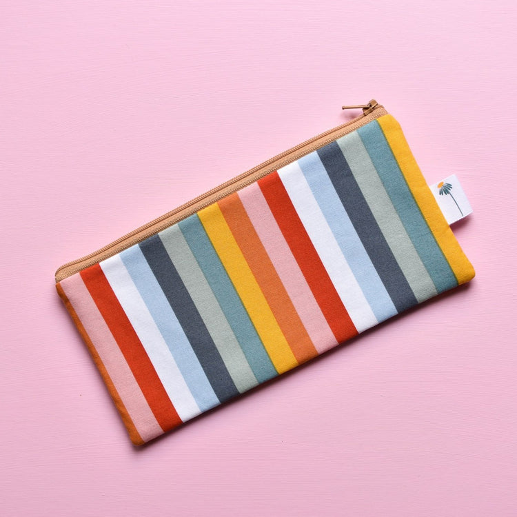 Rainbow Stripe Pencil Pouch