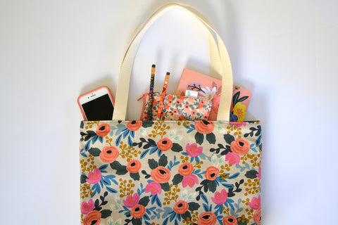 Tote Bag in Rosa Floral