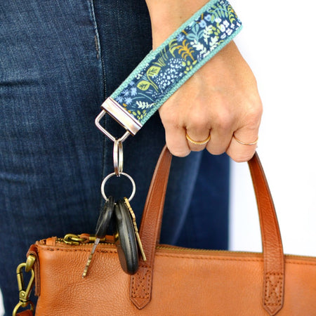 Tapestry Key Fob in Blue