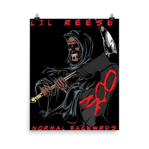 Official Normal Backwrds Poster - Lil Reese