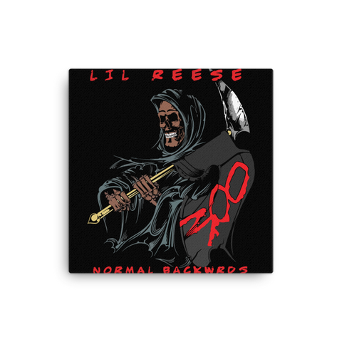 Image of Normal Backwrds Canvas - Lil Reese