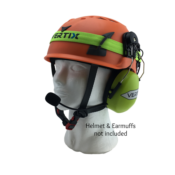 ACTIO - Safety Helmet w/Earmuffs Communication OTG (DH Series) : Industrial Intercom