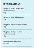 VERTIX Velo Cycling Intercom Specs | https://www.vertixglobal.com