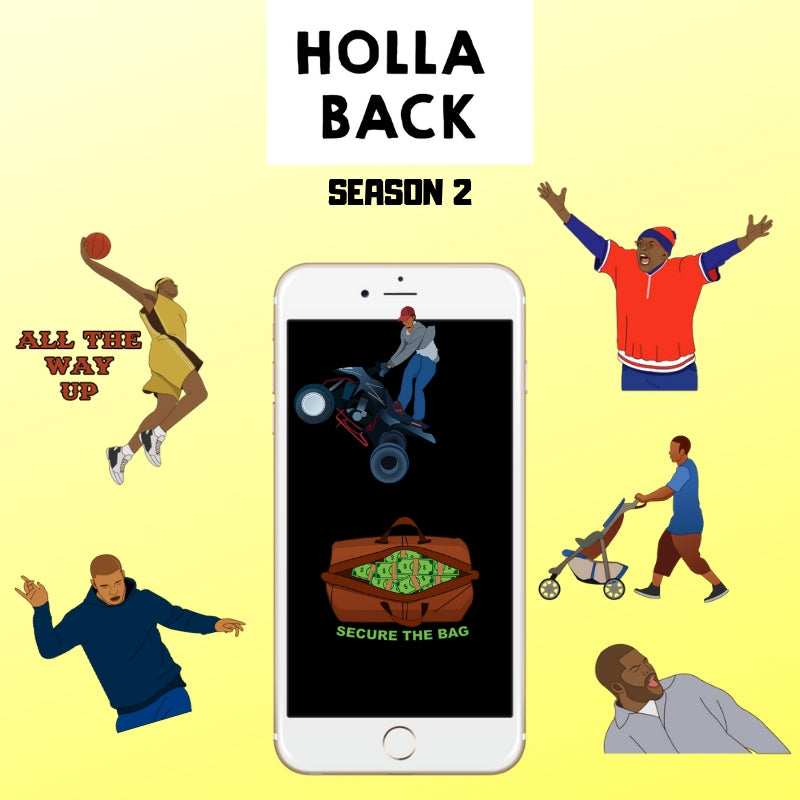 Holla Back Emoji Stickers - Season 2 2019