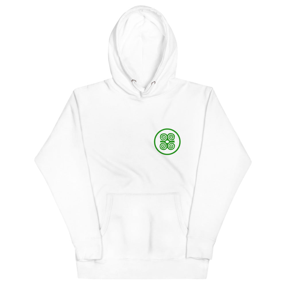 Strength Is in Number White/Green Hoodie