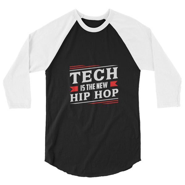 Tech Is The New Hip Hop Baseball Shirt  Black/White
