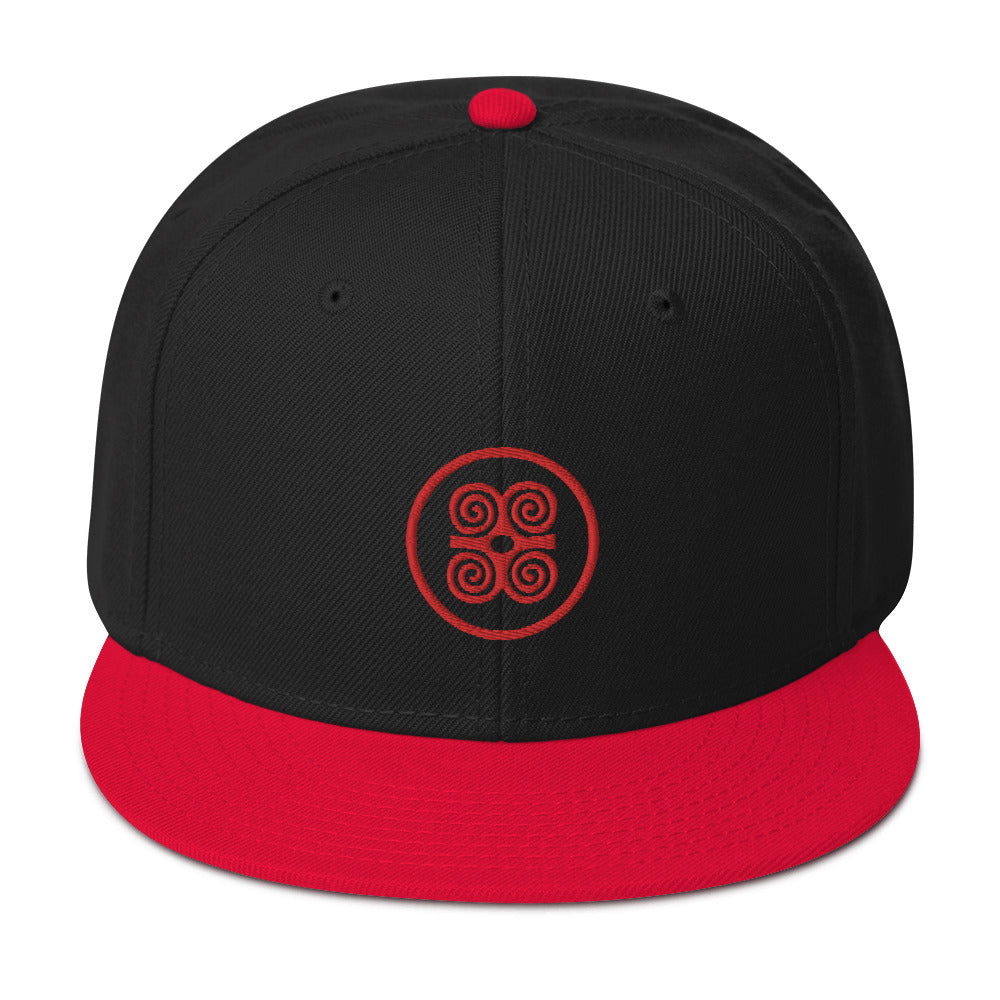 Strength Is In Numbers Snapback Hat Blk/Red