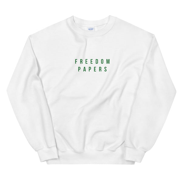 Freedom Papers White Sweatshirt